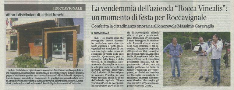 Unione Monregalese 2 ottobre 2019 - Azienda Agricola RoccaVinealis - Roccavignale, Provincia di Savona - Coltivazione di Granaccia - Vino Liguria